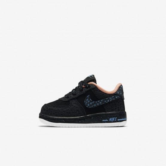 323CXOSN Nike Air Force 1 Lifestyle Shoes For Boys Black/Crimson Pulse/Summit White/Lagoon Pulse