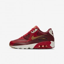 328AHOJW Nike Air Max 90 Lifestyle Shoes For Boys Game Red/Team Red/Sail/Elemental Gold