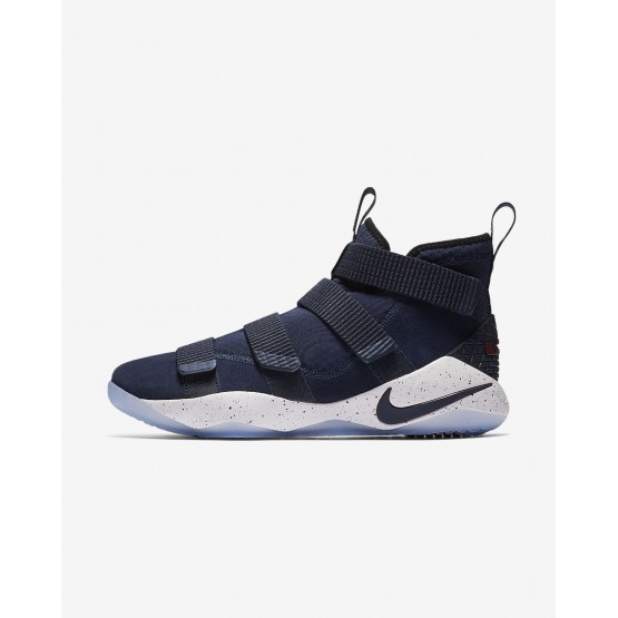 332XPRBO Nike LeBron Soldier XI Basketball Shoes For Women College Navy/White/Team Red