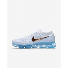 345AUTPK Nike Air VaporMax Running Shoes For Women Summit White/Hydrogen Blue/Pure Platinum/Metallic Red Bronze