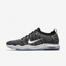 345DSMAZ Nike Air Zoom Training Shoes For Women Black/Cool Grey/White