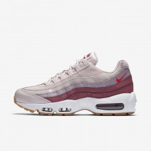 354VJQZS Nike Air Max 95 Lifestyle Shoes For Women Barely Rose/Vintage Wine/White/Hot Punch