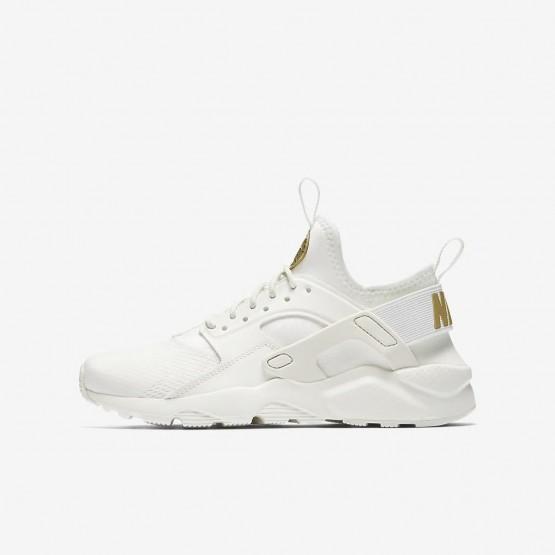 359XCNAJ Poikien Lifestyle Kengät Nike Air Huarache Valkoinen/Metal Kultaiset