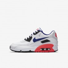 360HOYEN Nike Air Max 90 Lifestyle Shoes For Boys White/Solar Red/Black/Ultramarine