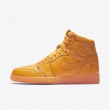 366WBHPI Air Jordan 1 Lifestyle Shoes For Men Orange Peel
