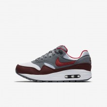 368GNLTJ Nike Air Max 1 Lifestyle Shoes For Boys White/Cool Grey/Team Red/University Red