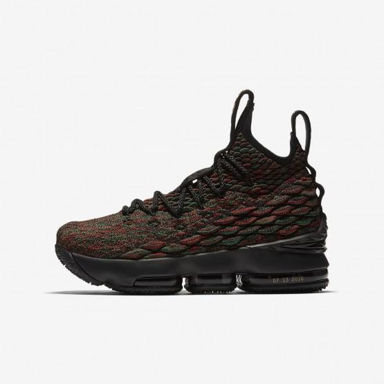 370HOKPX Nike LeBron 15 Basketball Shoes For Boys Multi-Color/Black