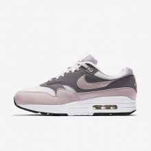 374YSZVR Zapatillas Casual Nike Air Max 1 Mujer Gris/Negras/Rosas