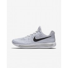 375GRYXK Nike LunarEpic Low Running Shoes For Women White/Pure Platinum/Wolf Grey/Black