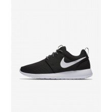 381QBCME Zapatillas Casual Nike Roshe One Mujer Negras/Gris Oscuro/Blancas