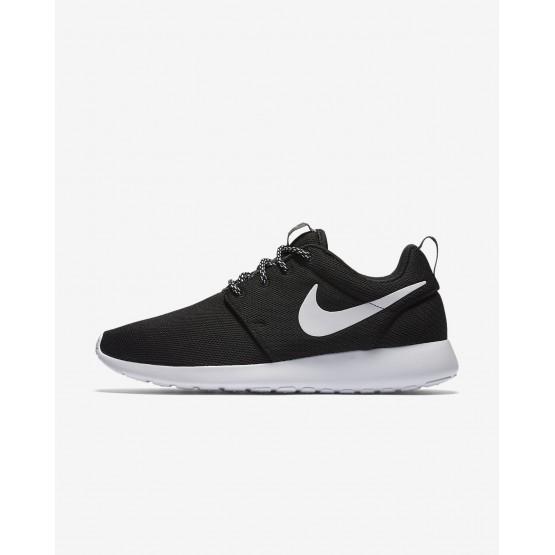 381QBCME Nike Roshe One Lifestyle Shoes For Women Black/Dark Grey/White