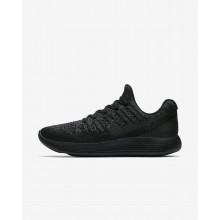 385MCVEZ Nike LunarEpic Low Running Shoes For Women Black/Dark Grey/Racer Blue