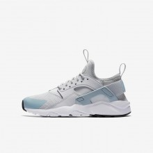 387KOETY Nike Air Huarache Lifestyle Shoes For Boys Pure Platinum/White/Ocean Bliss