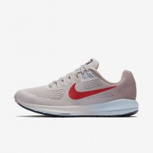 390VGFUW Nike Air Zoom Running Shoes For Women Vast Grey/Elemental Rose/Cobalt Tint/Habanero Red