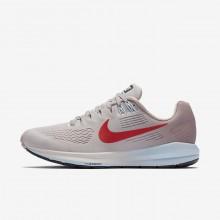 390VGFUW Nike Air Zoom Løpesko Dame Grå/Rosa/Rød