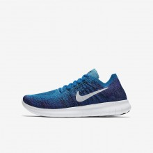391MFRCB Nike Free RN Running Shoes For Boys Blue Orbit/Black/Hyper Grape/Pure Platinum