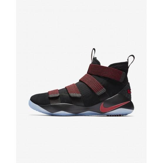 397OILQX Nike LeBron Soldier XI Basketbol Ayakkabıları Bayan Siyah/Kırmızı/Kırmızı
