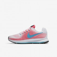 402ROJFS Nike Zoom Pegasus Running Shoes For Girls Pink/White/Black/Chlorine Blue