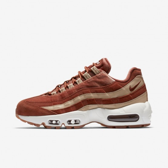 407WZDQU Nike Air Max 95 Lifestyle Shoes For Women Dusty Peach/Bio Beige/Summit White