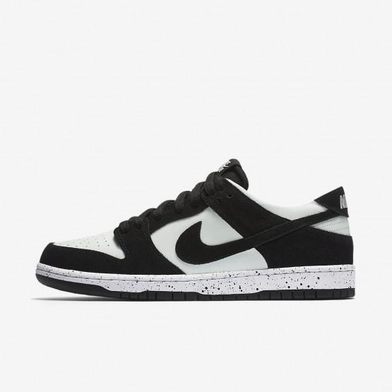 411KZNBQ Nike SB Dunk Skateboarding Shoes For Men Black/Barely Green/White