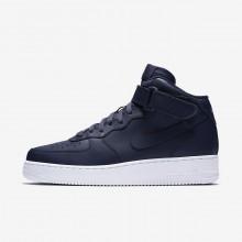420MCFPU Nike Air Force 1 Livsstil Sko Herre Obsidian/Hvite