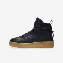 425JGERV Nike SF Air Force 1 Lifestyle Shoes For Boys Black/Gum Light Brown