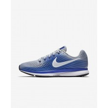 431QMESN Nike Air Zoom Running Shoes For Men Wolf Grey/Racer Blue/Deep Royal Blue/White