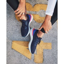439BKOIJ Nike Epic React Flyknit Running Shoes For Women College Navy/Racer Blue/Pink Blast