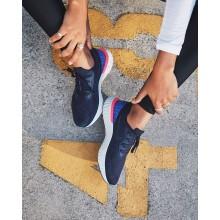 439BKOIJ Nike Epic React Flyknit Løpesko Dame Marineblå/Blå/Rosa