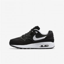 446LTGSB Nike Air Max 1 Lifestyle Shoes For Boys Black/White
