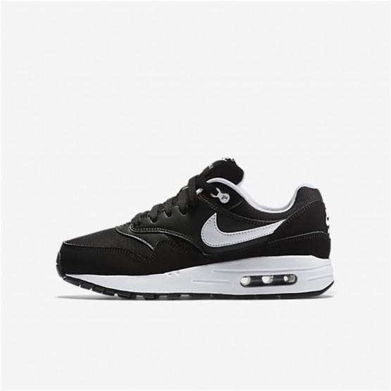 446LTGSB Nike Air Max 1 Lifestyle Ayakkabı Erkek Çocuk Siyah/Beyaz