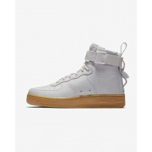 457FMQYP Nike SF Air Force 1 Lifestyle Shoes For Women Vast Grey/Gum Light Brown