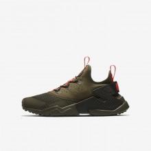 457ZIOJU Nike Huarache Lifestyle Shoes For Boys Medium Olive/Sequoia/Total Crimson