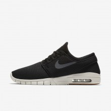 458EGSMP Nike SB Stefan Janoski Max Skateboarding Shoes For Men Black/Gum Medium Brown/Light Bone/Dark Grey