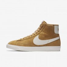 464RWFQK Nike Blazer Mid Lifestyle Shoes For Women Elemental Gold/Sail/Black