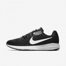 470CNQIX Nike Air Zoom Running Shoes For Men Black/Wolf Grey/Cool Grey/White