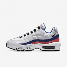 473QRBSW Nike Air Max 95 Lifestyle Shoes For Men White/Solar Red/Ultramarine/Black