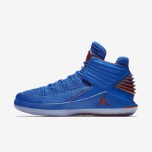 483CKLJA Air Jordan XXXII Basketball Shoes For Men Photo Blue/Metallic Silver/Team Orange