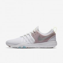 488LVBSW Nike Free TR Training Shoes For Women White/Elemental Rose/Volt Glow/Metallic Silver