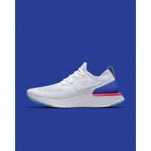501GVZLT Buty Do Biegania Nike Epic React Flyknit Damskie Białe/Niebieskie/Różowe