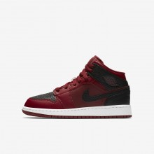 528DXZIL Air Jordan 1 Lifestyle Shoes For Boys Team Red/Summit White/Gym Red