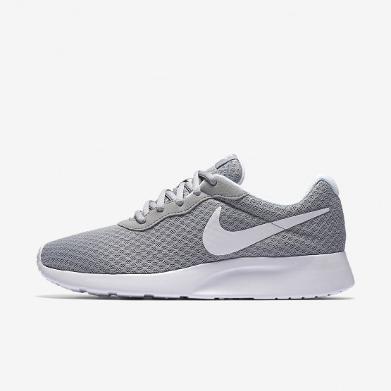 534RPFSV Nike Tanjun Lifestyle Shoes For Women Wolf Grey/White