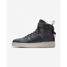 540IRLYQ Nike SF Air Force 1 Lifestyle Shoes For Men Dark Grey/Light Bone