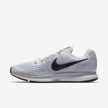 560VGBIF Nike Air Zoom Running Shoes For Men White/Pure Platinum/Wolf Grey/Anthracite