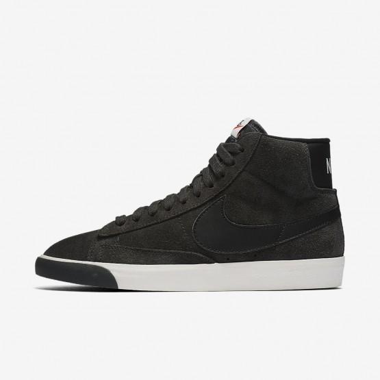 565KFAVN Nike Blazer Mid Lifestyle Shoes For Women Anthracite/Ivory/Gum Medium Brown/Black