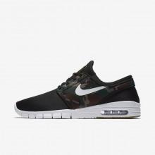 565NEUCR Nike SB Stefan Janoski Max Skateboarding Shoes For Men Black/Medium Olive/Gum Light Brown/White