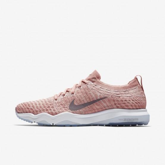567HSQGK Nike Air Zoom Training Shoes For Women Rust Pink/White/Gunsmoke
