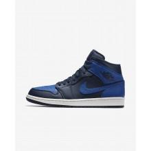 573ROSIT Air Jordan 1 Lifestyle Shoes For Men Obsidian/Summit White/Game Royal