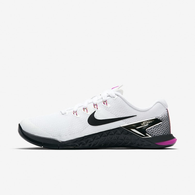 Pareja palma Banco de iglesia  Deportivas Nike Baratas Outlet - Zapatillas Nike Metcon 4 Mujer  Blancas/Fucsia/Naranjas/Negras Baratas Outlet