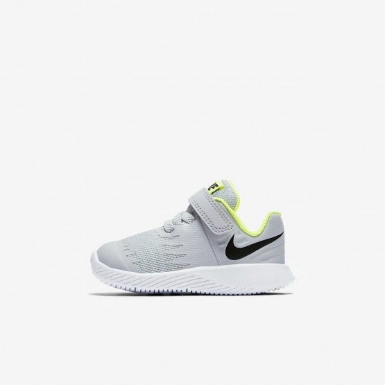 604DFHRV Nike Star Runner Running Shoes For Girls Wolf Grey/Volt/White/Black